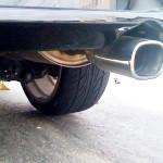 タイヤがバースト(x_x;)
